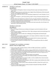 Technical Skills Cv Technical Manager Resume Samples Velvet Jobs