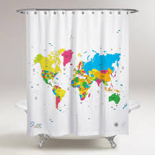 amazing shower curtains –  best quality world map shower