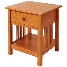 finish golden oak solid wood end tables38