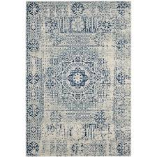 safavieh evoke apipe ivory blue indoor oriental area rug common 10 x 14