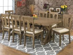 20th c reclaimed pine zinc trestle rectangular dining table reviews