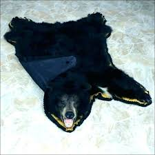 bear skin rug in front of fireplace elegant fake with head faux rugs animal