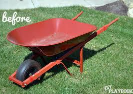 wheelbarrow planter diy playbook