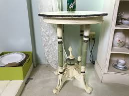 antique shabby chic round side table photo 1