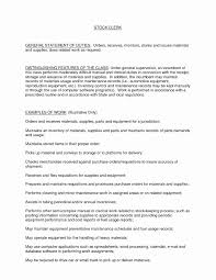 Warehouse Clerk Cover Letter Document Inventory Template