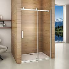 Shower Door clean shower door photographs : 1950mm UNITED FRAMELESS Single Sliding Shower Door Walk In Wet ...