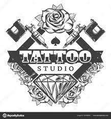 шаблон логотипа урожай тату салон векторное изображение Mogil