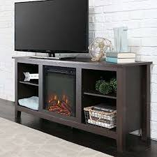 ember hearth electric fireplace unique new 58 inch tv stand with fireplace in espresso finish