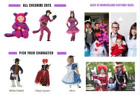 ideas for a family costume for 3 with the theme alice in wonderland each one