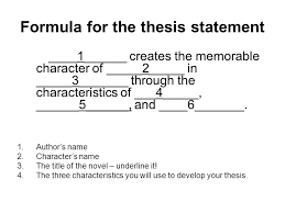 lord of the flies character analysis  thesis statement for an    formula for the thesis statement             creates the memorable character of             in               through the