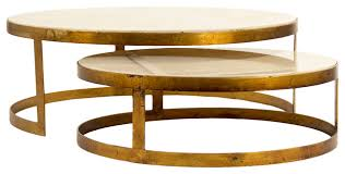 portia global ivory stone gold nest round coffee tables eclectic coffee tables round gold coffee table uk