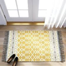 blue yellow rug yellow gray rug yellow abstract woven accent rug with gray fringe threshold target blue yellow rug
