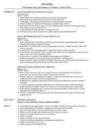 Resume Guidelines Specialty Sales Resume Samples Velvet Jobs 97