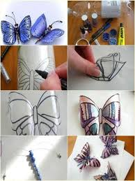 Make Butterfly Decorations Using Plastic Bottles - Find Fun Art Projects to  Do at Home and