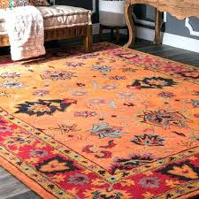 wonderful wool rug handmade traditional orange trellis nuloom moroccan diamond natural area in ivory d