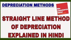 Straight Line Method For Depreciation Straight Line Method Of Depreciation Explained In Hindi Youtube