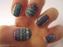 Tribal Print Nail Designs Matte Tribal Print Nails Love The Colors Nails Nails