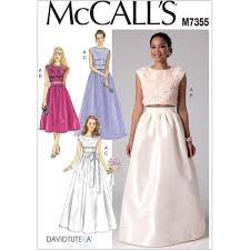 Crop Top Sewing Pattern New Misses Crop Top And Gathered Skirts McCalls Sewing Pattern 48