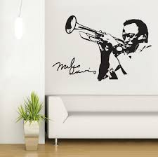 Small Picture Man Playing Saxophone Silhouette Wall Mural Music Series Art