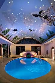 indoor pool lighting. Round Swimming Pool With Attractive Ceiling Lights Idea , Get A Comfy Time Inspiring Indoor Lighting