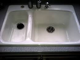 kitchen sink refinished in a home