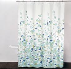 Dkny Bathroom Accessories Amazoncom Dkny Falling Petals Cotton Fabric Shower Curtain Blue