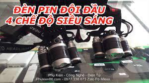 Bình Dương - Bán đèn pin đội đầu pin sạc 4 chế độ đèn siêu sáng - MS-02 -  YouTube
