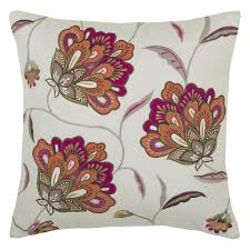 Decorative Pillow Set Rizzy Home Embroidered Jacobean Floral Decorative Throw Pillow
