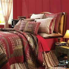 quilts cabin quilt bedding photo 4 of 6 red rustic log cabin plaid twin queen