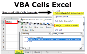 Vba Cells Excel How To Use Cell Reference Property With