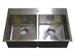 Auric Sinks 33 Premium Stainless Steel Top Mount Kitchen Sink With