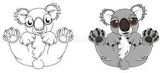 coloring book with koala stock ilration ilration of background 78515780