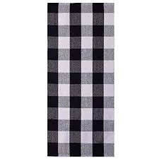 ukeler buffalo check plaid runner rug 2 6 black and white area rug runner for kitchen