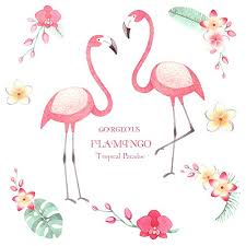 ahlsenl flamingo wall decals removable wall art mural wall decor diy vinyl l and stick wall stickers for living room bedroom flamingo 4