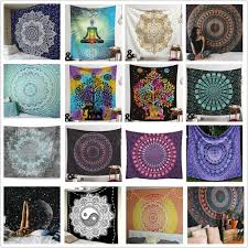 details about india mandala tapestry bedspread hippie wall hanging queen twin throw decor free