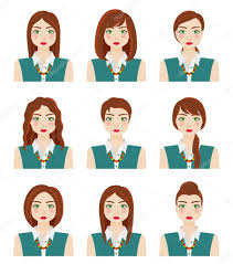 Atraktivní Mladá Dívka S Různými účesy Hnědé Vlasy Zelené Oči A