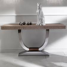 modern console table leather  the holland  building modern