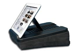 com prop n go hybrid lap desk for ipad ipad mini surface nexus 7 and ereaders with adjule angle control and storage pocket computers
