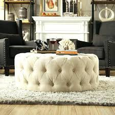 ottoman from coffee table diy round fabric coffee table awesome large round ottoman coffee tables round