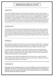 personal skills audit