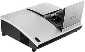 hitachi projector. hitachi cp-a100 ultra short throw projector review