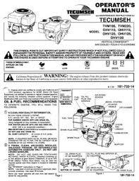 13A1452B600 MTD Spider Lawn Tractor Tecumseh Engine Manual 11.5 HP