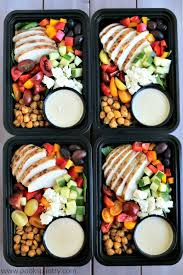 Weekly Lunch Prep Mediterranean Chicken Meal Prep Bowls With Tahini Dressing