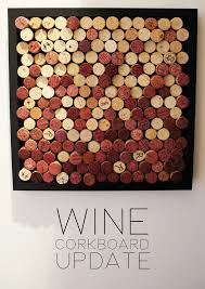 Cork Bulletin Board Satur Diy Wine Cork Bulletin Board Update Coris Corner