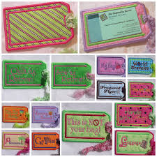 In The Hoop Luggage Tag Designs Luggage Tags Set 2 5x7 Sew Inspired By Bonnie