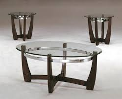 glass coffee table set of 3 3 piece modern wood and glass coffee table set with