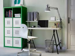 ikea office. Simple Office A Home Office With Green KALLAX Storage LINNMON Table In Black And White  A To Ikea Office