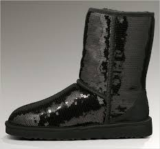 UGG 3161 Women Classic Short Sparkles Boots Black