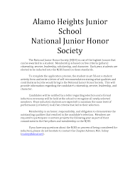 Sample Re Mendation Letter For High School National Honor Bunch