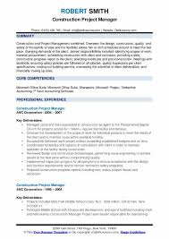 Construction Operation Manager Resume Construction Project Manager Resume Samples Qwikresume